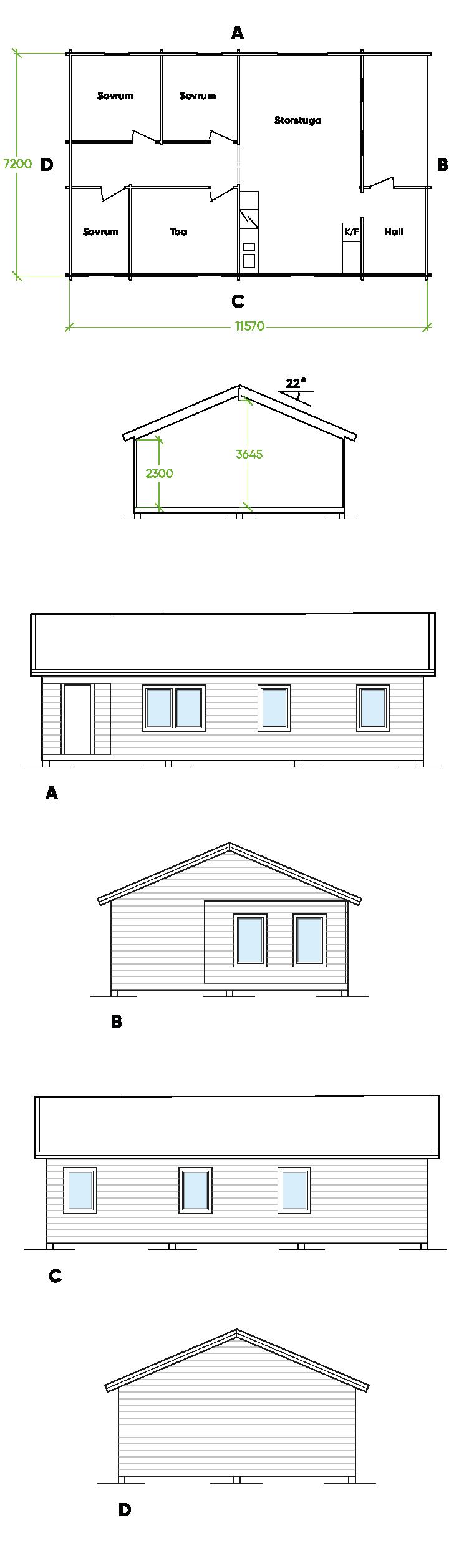Planritning Bygg och trä - Åbyn