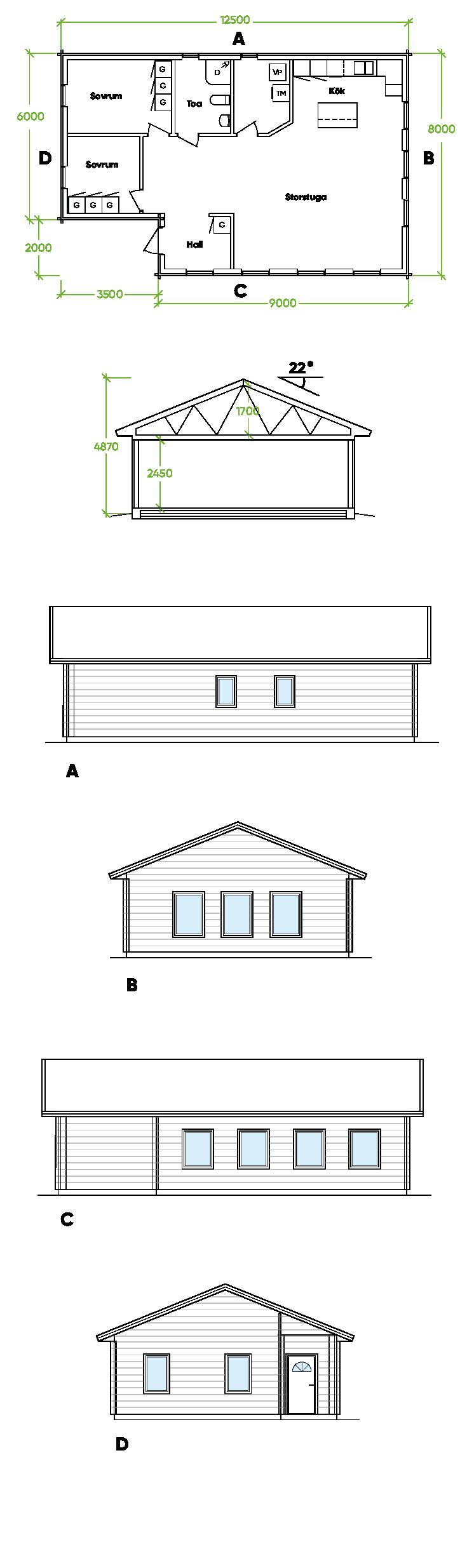 Planritning Bygg och trä - Bygdsiljum