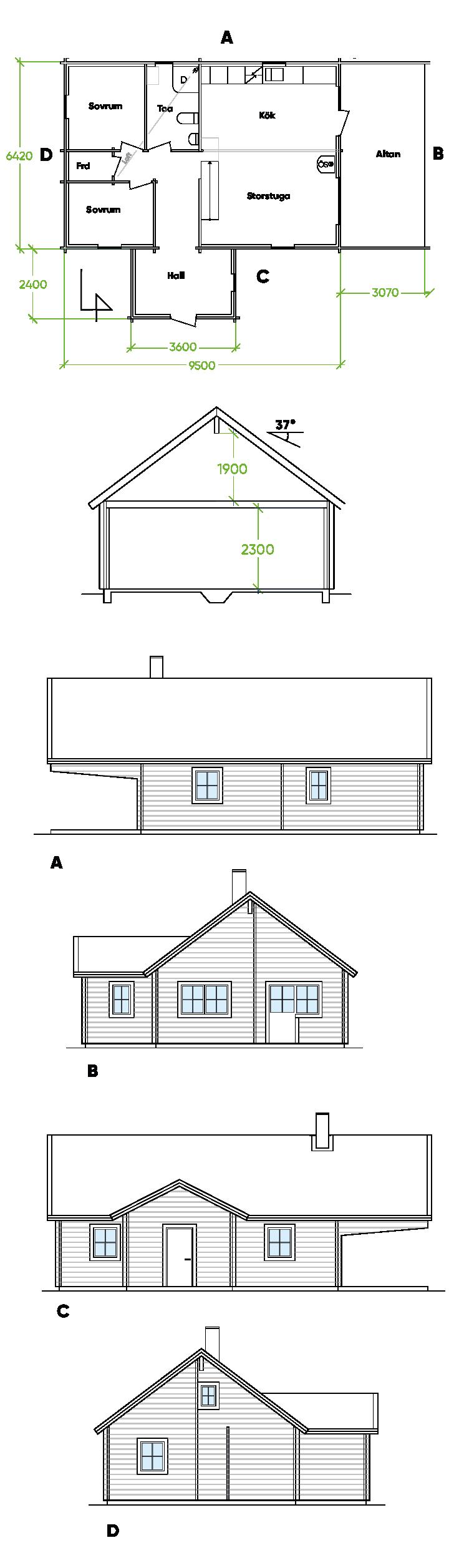Planritning Bygg och trä - Falmark