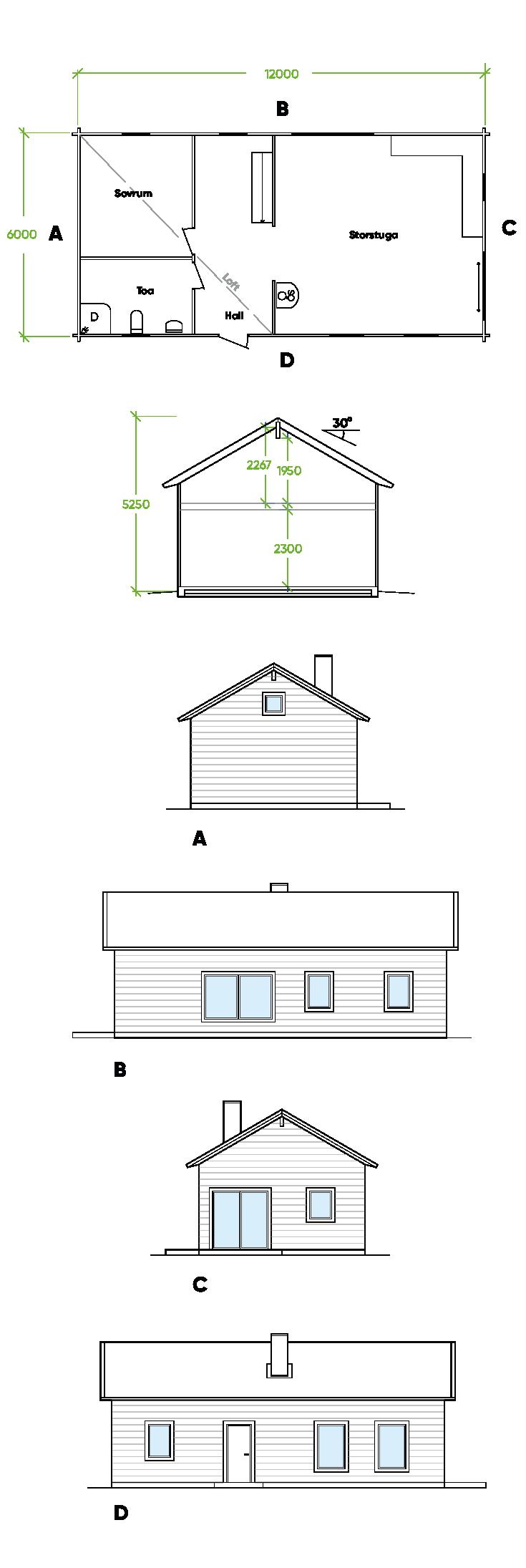 Planritning Bygg och trä - Lappvattnet